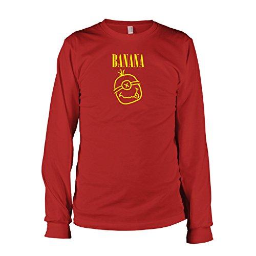 TEXLAB - Banana - Langarm T-Shirt, Herren, Größe L, rot