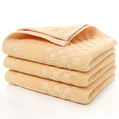 GXSCE Baumwoll-Handtuch, Schnell Trocknend, Super saugfähig, Kompakt, Leicht, Geeignet für Fitness, Schwimmen, Sport, Reisen, Camping, Strand, Dusche, Braun