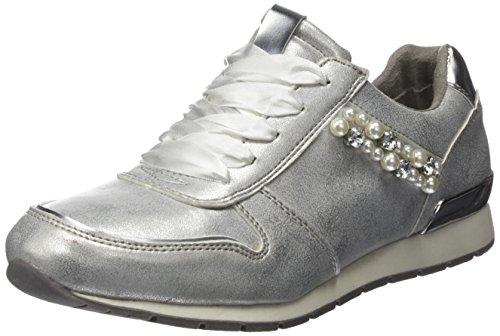 TOM TAILOR Damen 4894103 Sneaker, Silber (Silver), 41 EU