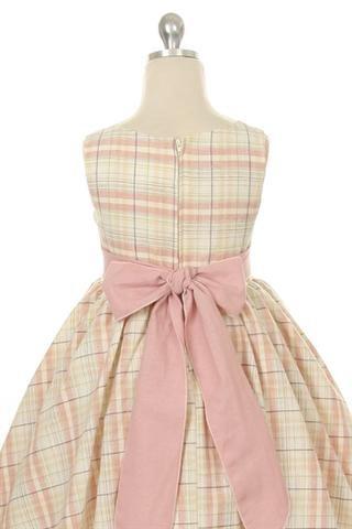 Needybee Vintage Linen Plaid Dress.