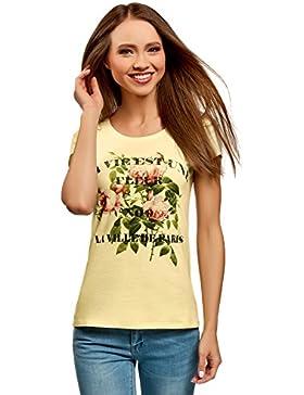 oodji Ultra Donna T-Shirt Stampata