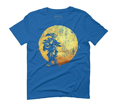 Gold Masked Creature Men's 2X-Large Royal Blue Graphic T-Shirt - Design By Humans