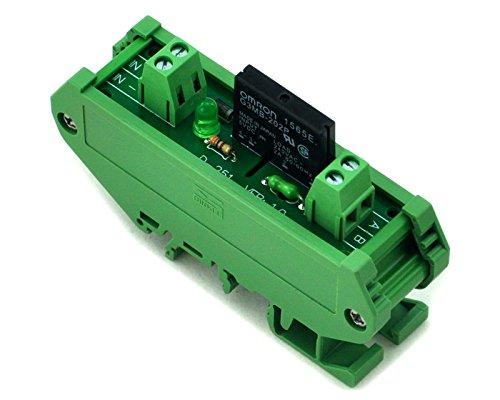 Electronics-Salon Montage sur rail DIN 1 canal SSR / module d'interface à relais statique, AC100 ~ 240V / 2A.