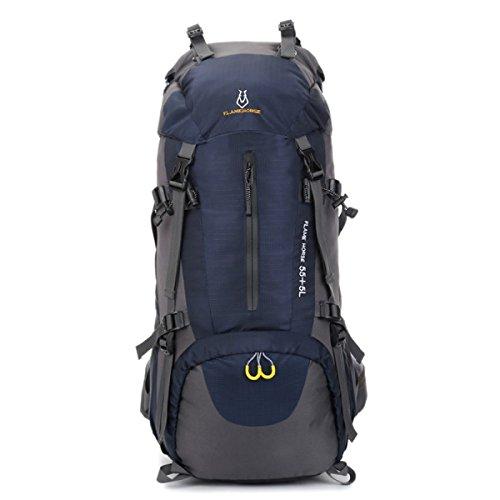 Outdoor Sport Bergsteigen Tasche Camping Rucksack Wasserdicht 60L Dark