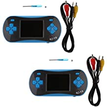 Phenovo Set Of 2 RS-16 2.5'' Built In 260 Retro Game Handheld Video Game Console Player With Screwdriver For Children Blue