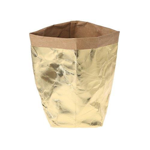 Sac en papier Kraft Shizuhatagayama lavable Multi Fonctions pour plantes et fleurs à pain de stockage de cadeau de fête de mariage, Papier Kraft, doré, 40 cm