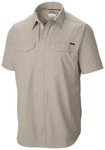 columbia-herren-hemd-silver-ridge-short-sleeve-shirt-fossil-xl-am7474-160-xl