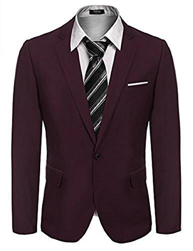 Jacke Männer Kleid (Hasuit M?nner Casual One Button Slim Fit Stilvolle Blazer M?ntel Jacken Kleid Anzug)