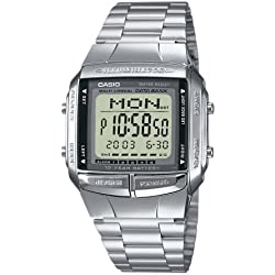 CASIO Men's Quartz Watch with LCD Dial Digital Display and Stainless Steel Strap