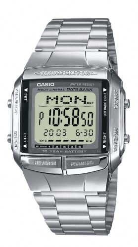 CASIO-Collection-DB-360N-1AEF-Reloj-digital-con-correa-de-acero-inoxidable-para-hombre-cronmetro-alarma-luz-color-plateado