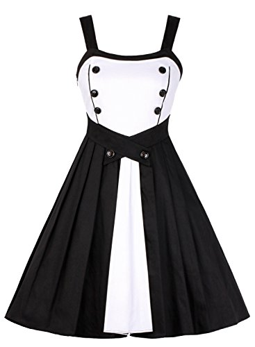 Women-Cocktail-DressOTEN-Vintage-1950s-Style-Rockabilly-Party-Pleated-Skirt