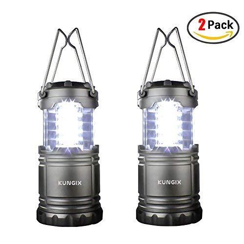 KUNGIX 2 PCS Portable, Lampe Torche Pliable 300 lumens Ultra Lumineuse pour Les activés extérieurs, télescopique étanche, idéal pour Le Camping, la Chasse et la randonnée Baby-Boys