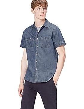 FIND Camicia di Jeans Uomo a Manica Corta