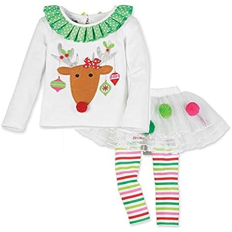 Amlaiworld Los bebés de la Navidad vestido de la torta de Santa Elk