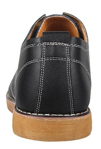 iLoveSIA Chaussures de ville Homme en cuir Noir Marron Taille 38-44 Noir