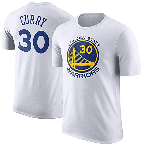 T-Shirt NBA Golden State Warriors Stephen Curry Basketballfans Oben Bequeme Tops S-3XL Weiß, S -
