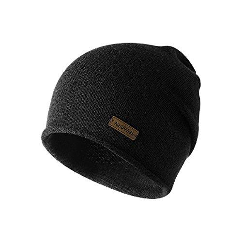 Imagen de triwonder sombrero de invierno beanie knit slouch hat gorro skull hat sombrero de lana para hombres y mujeres negro