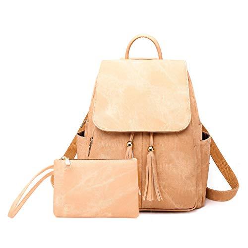 Haludock 2 STÜCK Frauen Damenmode Magnetschnalle Quaste Messenger Handtasche Totes Schulter Rucksäcke Taschen Umhängetasche Reisetaschen -