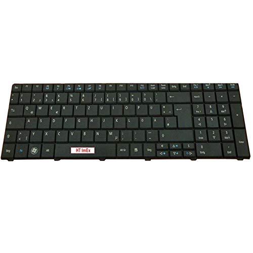 Tastatur - Farbe: Schwarz - Deutsches Tastaturlayout Version 4 kompatibel für Acer Aspire 7560 7560G 7735ZG 7738TG 7735G 7741Z 7741ZG 7552 7552G 7750 7750G 7739 7739G 7739Z 7739ZG 7736G (Acer Aspire 7741z Tastatur)