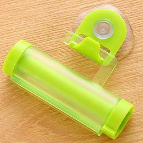 yuangong Dispensador de Pasta de Dientes Pragmatic PlasticRolling con Ventosa para Colgar, Simple para decoración del hogar