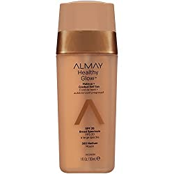 Medium : Almay Healthy Glow Makeup & Gradual Self Tan, Medium