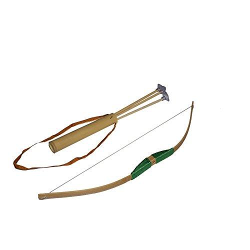 klein-Bogen Spitze Saugnapf-Grün-Spielzeug aus Holz ()