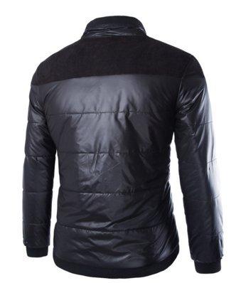 OHmais homme parka manteau d'hiver veste à capuche fourré Noir