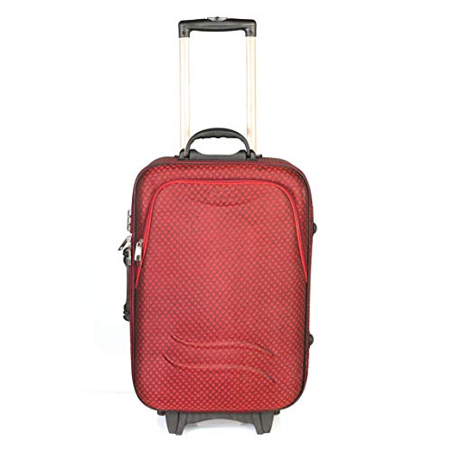 Polo Checks Matte Travel Trolley Bag/Suitcase/Luggage Bag- Cabin Luggage Expandable Cabin Luggage - 20 inch (Red)