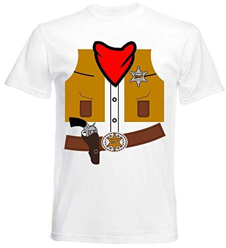 aprom Cowboy Kostüm T-Shirt Fasching JGA Sheriff Gruppenkostüm Karneval Cow O ()