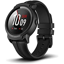 Sistema operativo TicWatch E2 Black Wear de Google Classic Fitness Smartwatch, 5 ATM Waterproof, Google Pay, Compatible con iPhone y Android