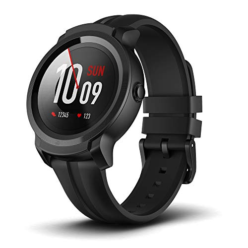 Ticwatch Mobvoi E2, Wear OS by Google Fitness Smartwatch, 5 ATM Waterproof and Swim-ready, Compatible with iPhone and Android-Shadow