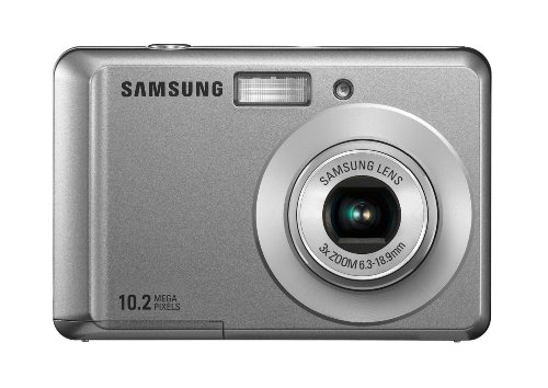 Samsung ES15 Digitalkamera (10 Megapixel, 3-fach opt. Zoom, 6,4 cm (2,5 Zoll) Display, Bildstabilisator) silber (10 2.5 Mp)