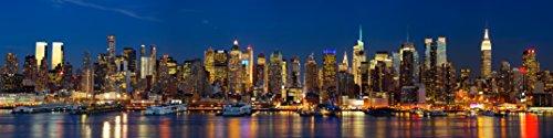 "Infrarotheizung Aluminium mit Bild, 400 Watt - lang, Motiv ""New York"""