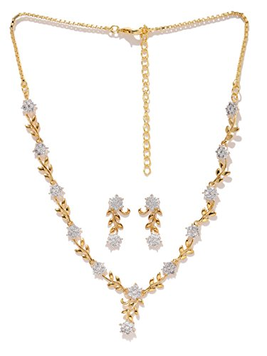 Zaveri Pearls Necklace Set for Women (Golden)(ZPFK5425)