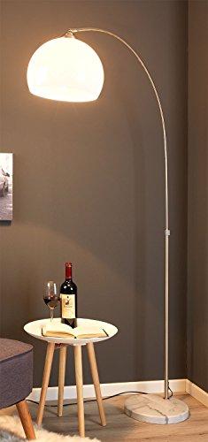 Bogen-Stehleuchte LIPORI   H 207 cm Silberfarben   ohne Leuchmittel