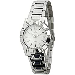 Zzero zz3524b Ladies Quartz Stainless Steel Watch Strap Quandrante White