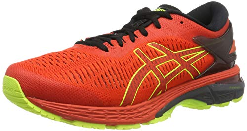 Asics Gel-Kayano 25, Zapatillas de Running para Hombre, Rojo (Cherry Tomato/Safety Yellow 801), 39.5 EU