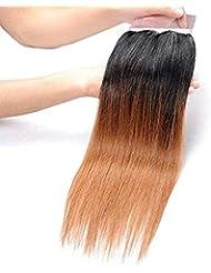 BLISSHAIR Cheveux Humains brésilien en lot avec closure Extensions de Cheveux 8 inch OT1B/30