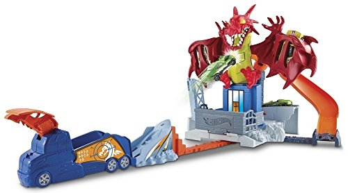 Mattel Hot Wheels DWL04 - Drachen-Attacke Spielset