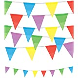 VALUE TWIN PACK Multi Colour Pennant Bunting Indoor/Outdoor Party Decoration Banner Total 22 Flags 26 Foot by 30YFDPB