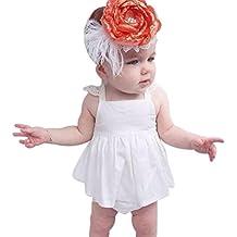 ZARLLE 2018 Vestir Vestido Para Bebés, Ropa Infantil Verano BañAdor Traje Stripe Vestido Sin Espalda Breve Vestido NiñA Vestido De Fiesta Sin Manga Princesa Falda Ropa De Bebe NiñA