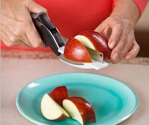 Hochwertige 2in 1Clever Cutter, Cutting Board Schere AS SEEN ON TV, Food Chopper Küchenmesser und Schneidebretter Complex - 4