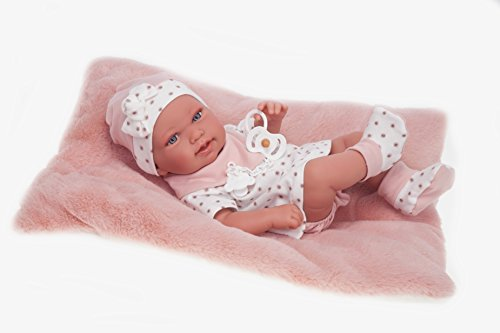 ANTONIO JUAN Recien Nacida Pipa Cojin Bambola Realistica, Colore Bianco, AJ5028
