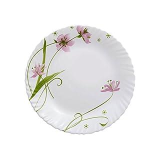 Dajar Selma 25cm Arcopal Glass Dinner Plate, White, Pink, Green, 25x 25x 2.3cm