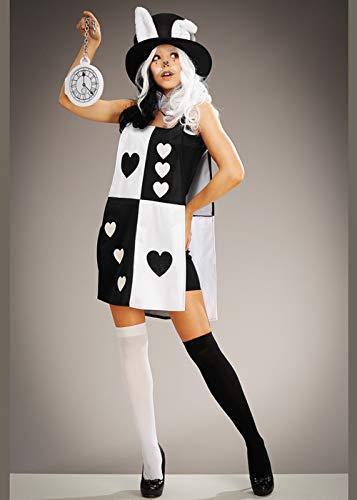 Magic Box Int. Womens Wonderland White Rabbit Kostüm Large (UK - Wonderland Rabbit Kostüm