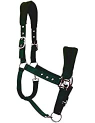 JF de hípica de nailon–Cabestro cubierto, Verde, Pony, aha de 05–05–02