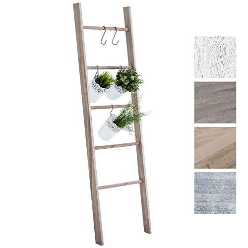 Escalera Mariette, una estantería muy original  Esta preciosa escalera realizada en madera y con estilo rústico, llamará la atención por su originalidad y estilo. Podrá ubicarla tanto en el dormitorio, como en el cuarto de baño para colgar las toalla...