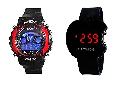 Blutech Combo Of 2 Digital Black Dial Kids Watch-1736
