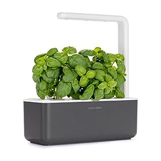 Click and Grow Smart Garden 3 Indoor Gardening Kit (Includes Basil Capsules), Grey