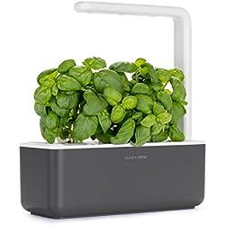 Click & Grow Smart Garden 3 jardinière d'intérieur 30 x 10 x 28 cm Gris anthracite (contient 3 capsules de basilic)